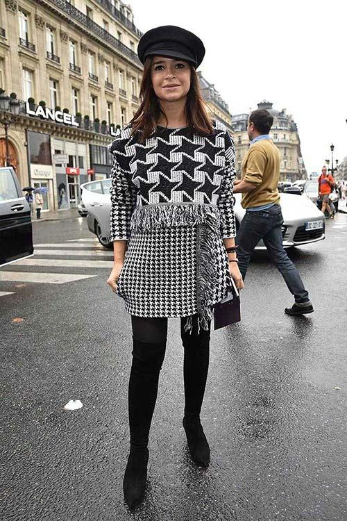 Fresh Ways to Wear Houndstooth Prints: Miroslava Duma