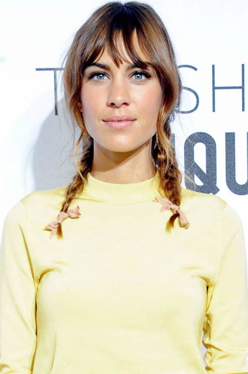 10 Trendy Braided Holiday Hairstyles: Alexa Chung Pigtail Braids
