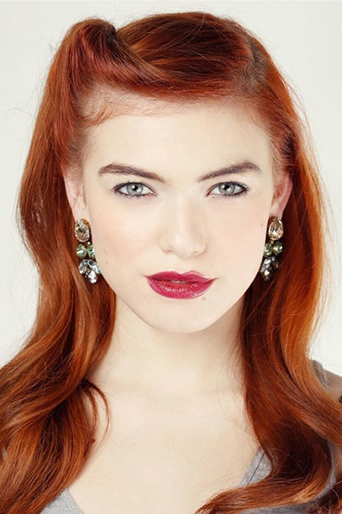 10 Gorgeous Holiday Party Hairstyles: Vintage Side Roll