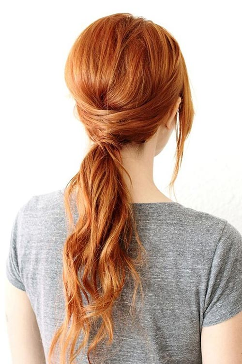 10 Gorgeous Holiday Party Hairstyles: Crisscross Ponytail