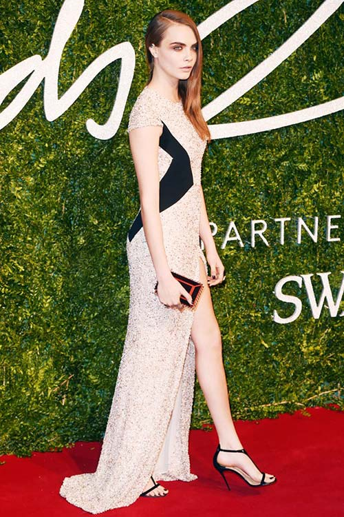 British Fashion Awards 2014 Red Carpet Fashion: Cara Delevingne