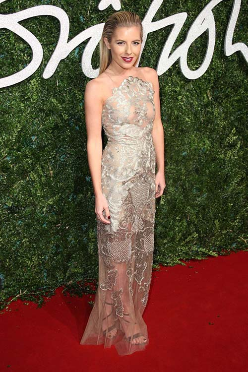 British Fashion Awards 2014 Red Carpet Fashion: Mollie King