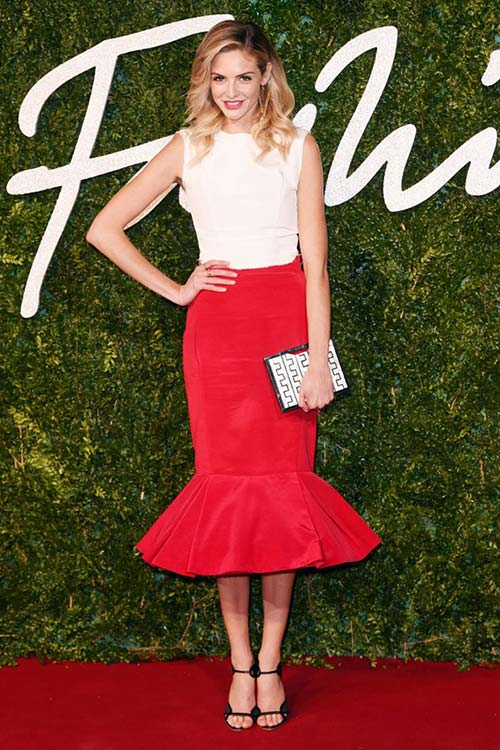 British Fashion Awards 2014 Red Carpet Fashion: Tamsin Egerton