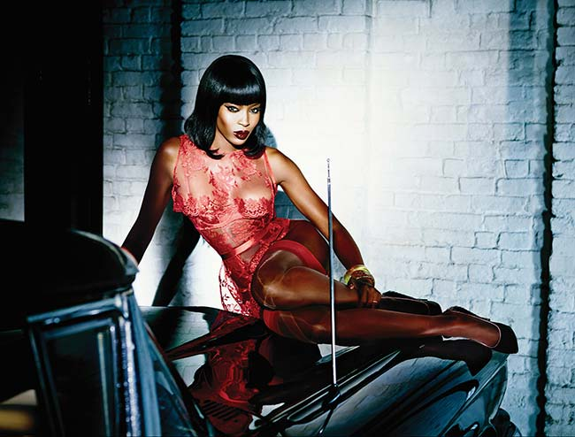 Naomi Campbell for Agent Provocateur Spring 2015 Campaign