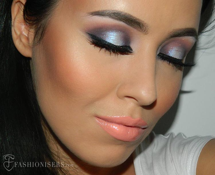 Purple Smokey Eye Makeup Tutorial for Holiday