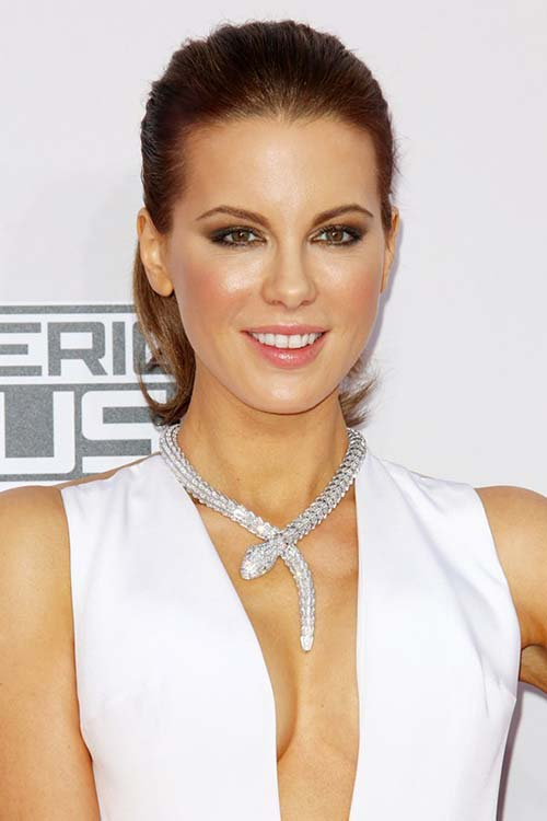 Pretty Holiday Hairstyles to Meet 2015 In Style: Ponytail - Kate Beckinsale