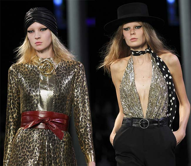 Spring 2015 Runway Inspired Holiday Party Outfit Ideas: Saint Laurent