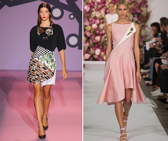 Spring 2015 Asymmetrical Skirt Trend