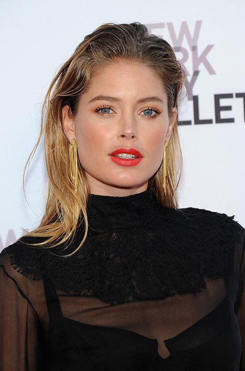 Casual At-Home Hairstyles from Celebs: Doutzen Kroes