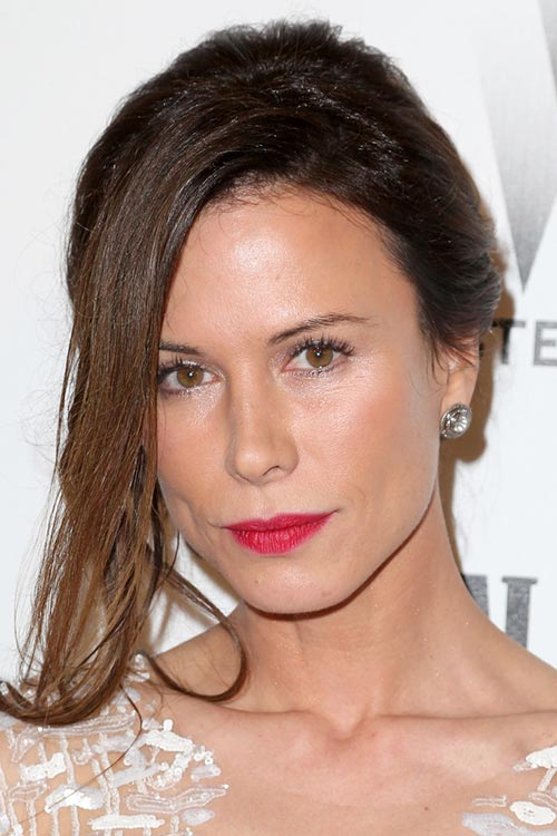 2015 Stylish Celebrity Hairstyles: Rhona Mitra Loose Updo