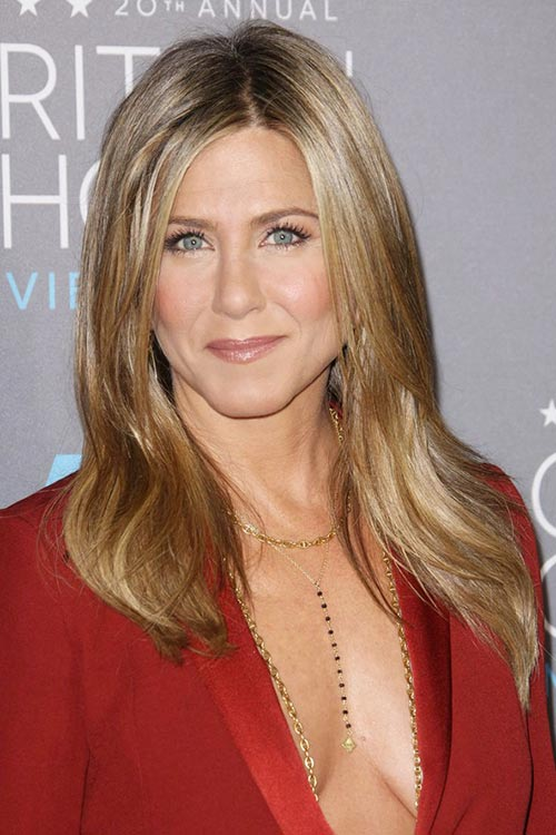 Critics' Choice Awards 2015 Best Hairstyles and Makeup Looks: Jennifer Aniston