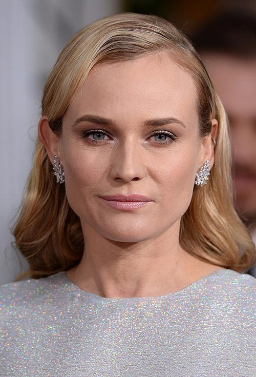 Golden Globes 2015 Celebrity Hairstyles and Makeup: Diane Kruger