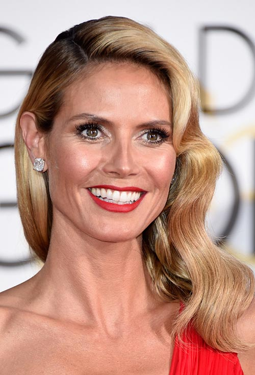 Golden Globes 2015 Celebrity Hairstyles and Makeup: Heidi Klum