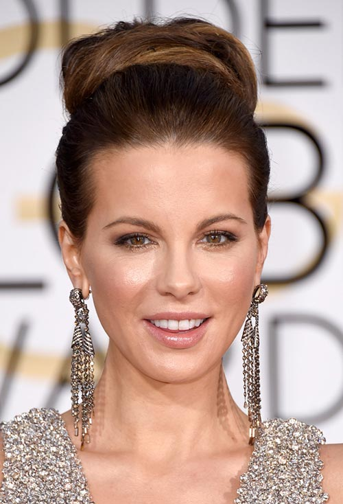 Golden Globes 2015 Celebrity Hairstyles and Makeup: Kate Beckinsale