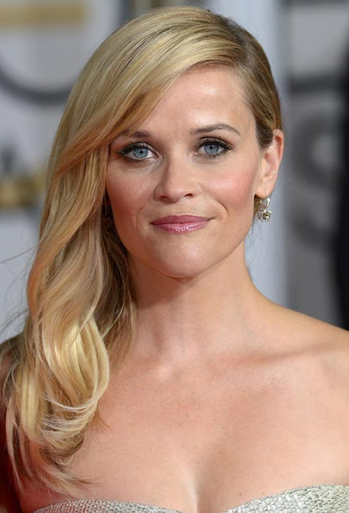 Golden Globes 2015 Celebrity Hairstyles and Makeup: Reese Witherspoon