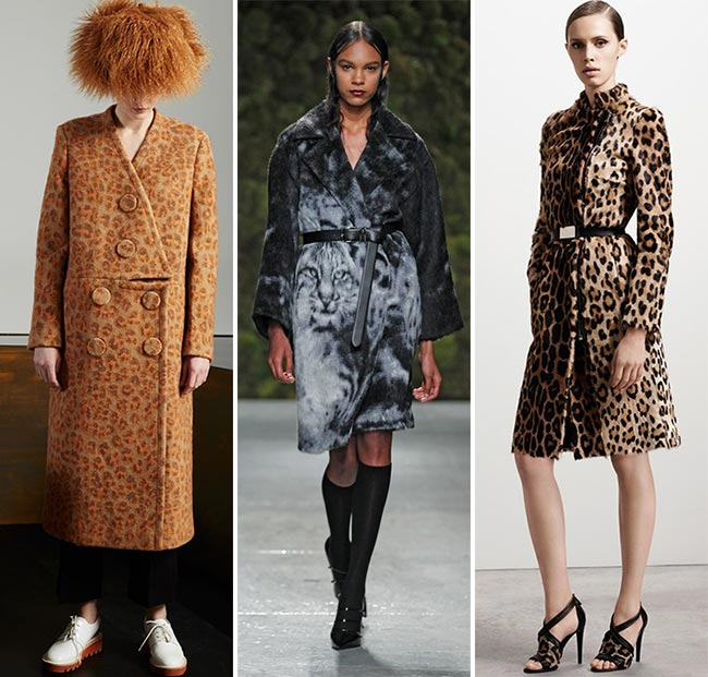 Pre-Fall 2015 Fashion Trends: Animal Printed Coats