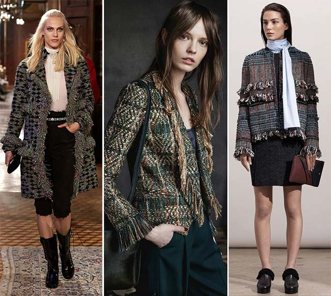 Pre-Fall 2015 Fashion Trends: Fringed Tweed