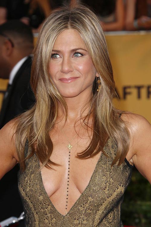 SAG Awards 2015 Hairstyles and Makeup: Jennifer Aniston