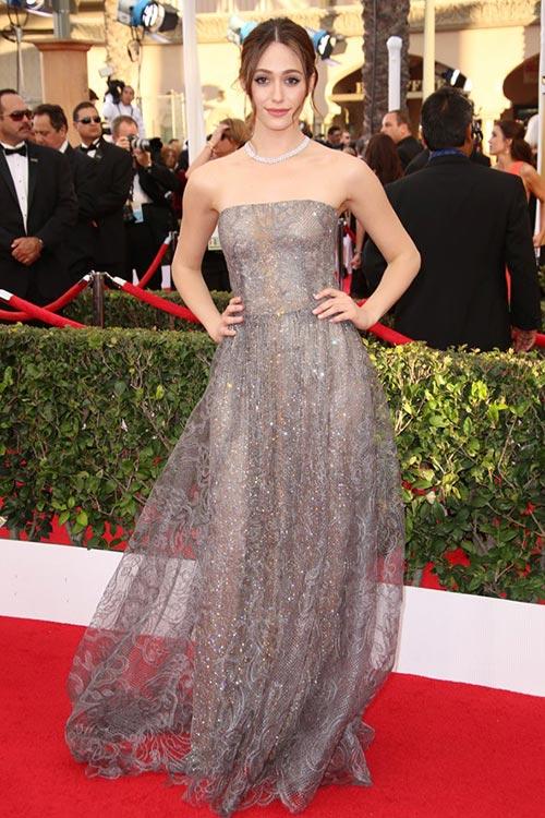 SAG Awards 2015 Red Carpet Fashion: Emmy Rossum