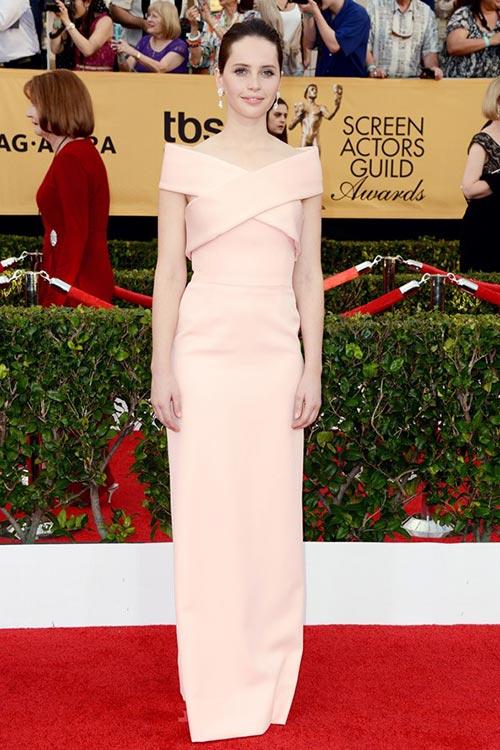 SAG Awards 2015 Red Carpet Fashion: Felicity Jones