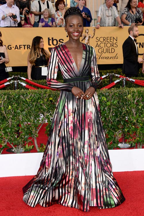 SAG Awards 2015 Red Carpet Fashion: Lupita Nyong'o