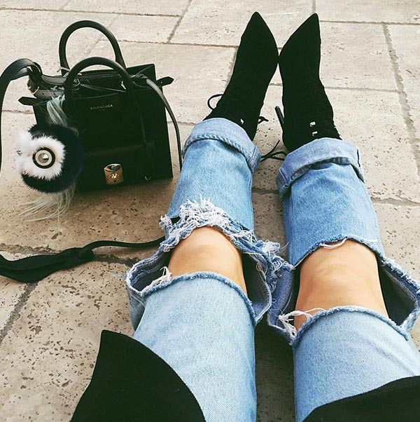 7 Fashion Trends That Should Die in 2015: Very Ripped Jeans