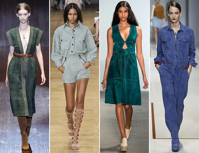 Spring/ Summer 2015 Trend of Suede Clothing: Colorful Suede