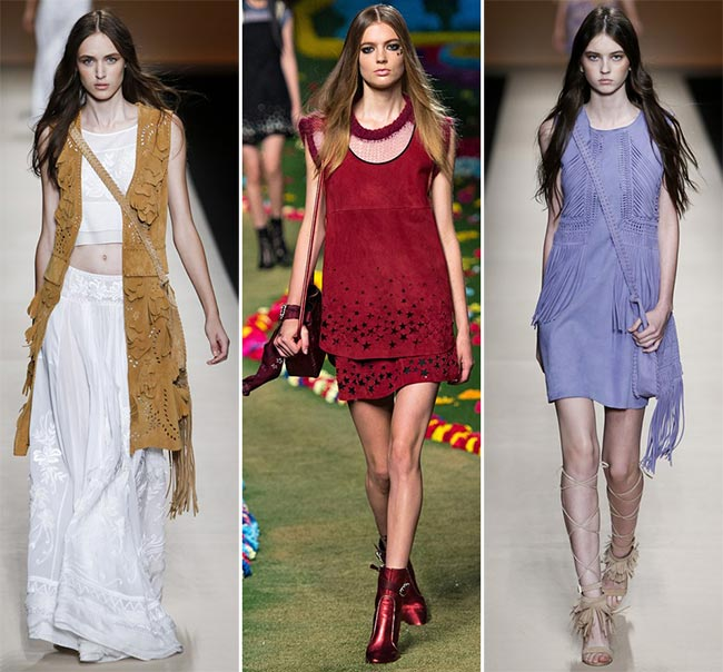 Spring/ Summer 2015 Trend of Suede Clothing: Bohemian Suede
