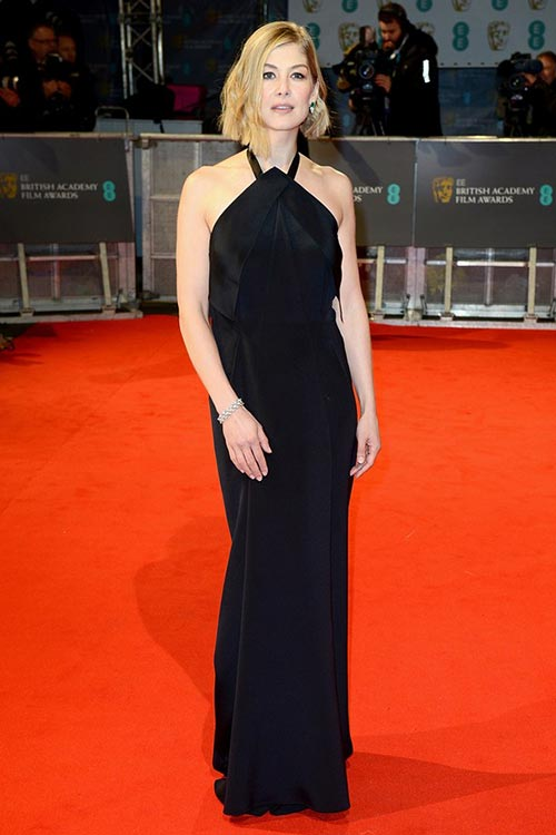 BAFTA Awards 2015 Red Carpet Fashion: Rosamund Pike