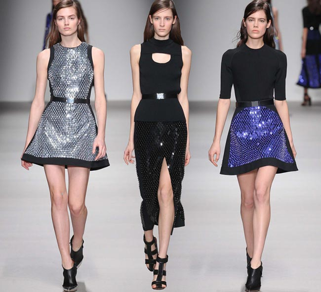 David Koma Fall/Winter 2015-2016 Collection - London Fashion Week
