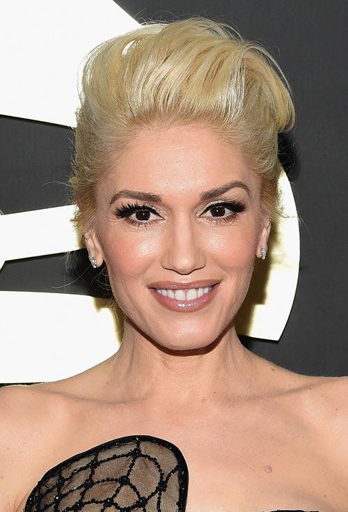 Grammy Awards 2015 Hairstyles and Makeup: Gwen Stefani