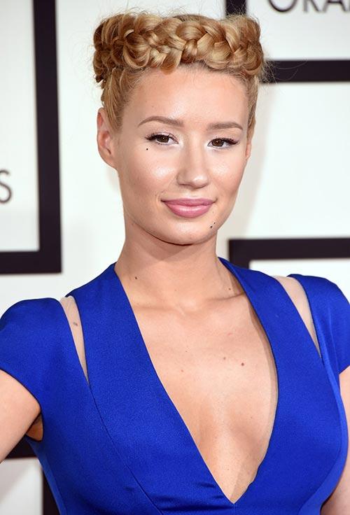 Grammy Awards 2015 Hairstyles and Makeup: Iggy Azalea