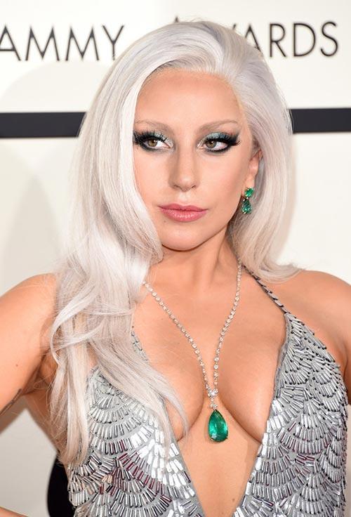 Grammy Awards 2015 Hairstyles and Makeup: Lady Gaga