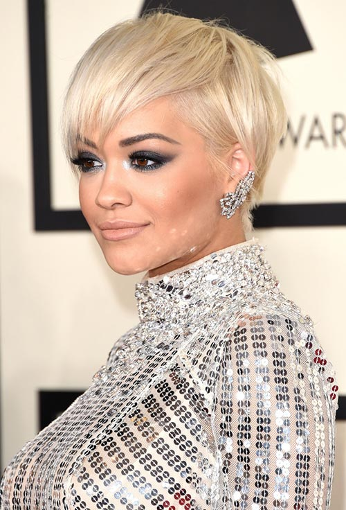 Grammy Awards 2015 Hairstyles and Makeup: Rita Ora