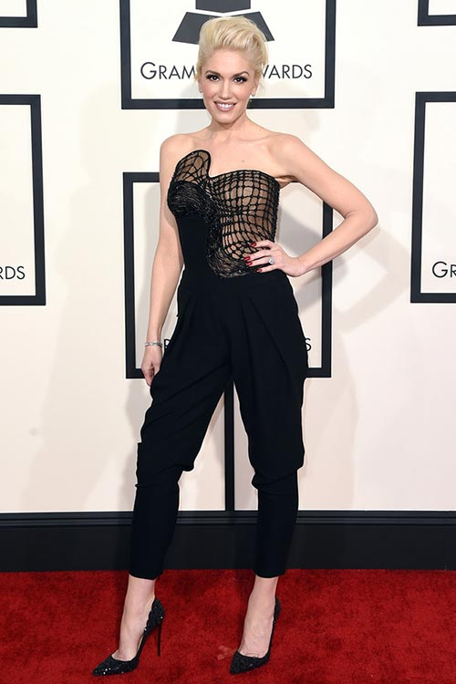 Grammy Awards 2015 Red Carpet Fashion: Gwen Stefani