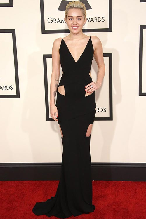 Grammy Awards 2015 Red Carpet Fashion: Miley Cyrus