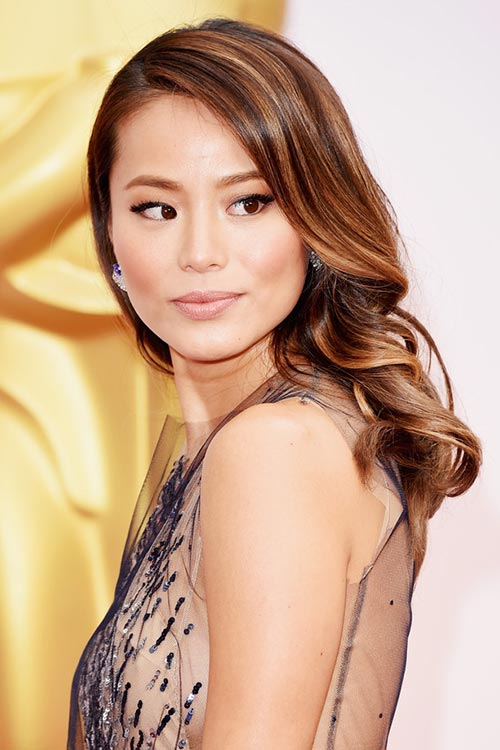 Oscars 2015 Celebrity Hairstyles and Makeup: Jamie Chung