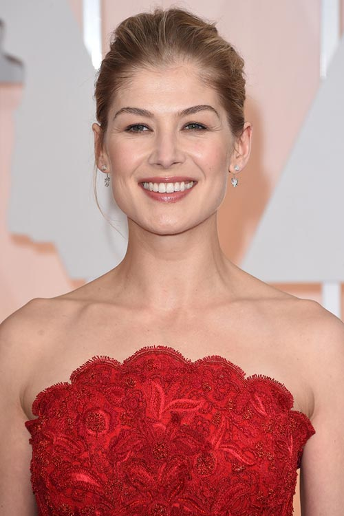 Oscars 2015 Celebrity Hairstyles and Makeup: Rosamund Pike