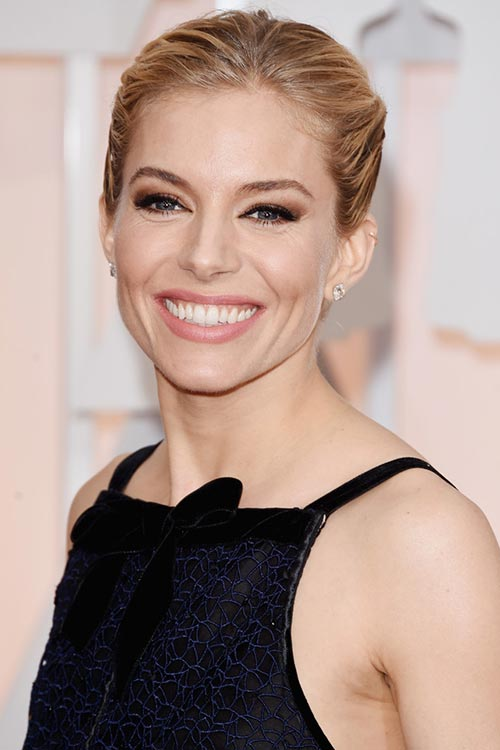 Oscars 2015 Celebrity Hairstyles and Makeup: Sienna Miller