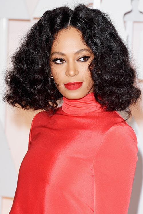 Oscars 2015 Celebrity Hairstyles and Makeup: Solange Knowles