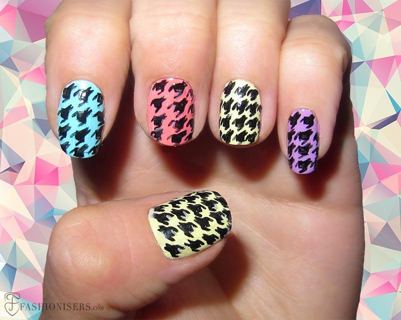 12 Modern Checkered Nail Art Designs