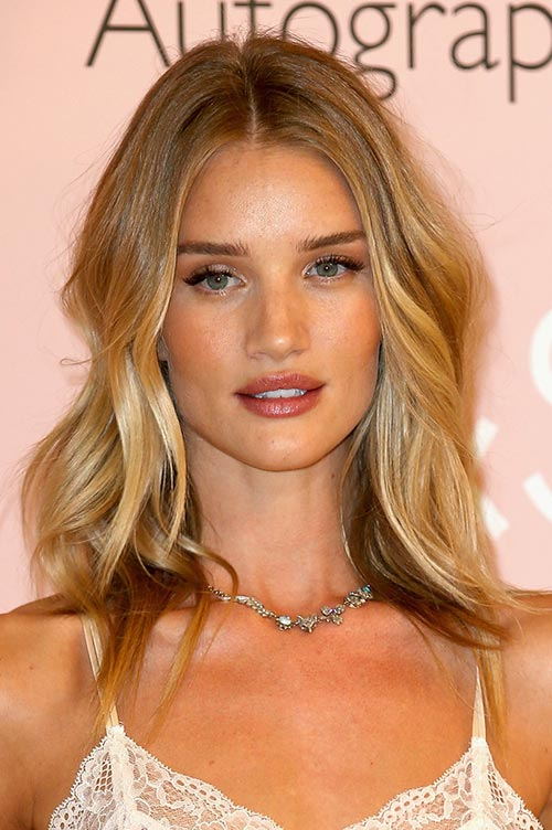Trendy Hair Colors for Spring 2015: Rosie Huntington-Whiteley Blonde Hair