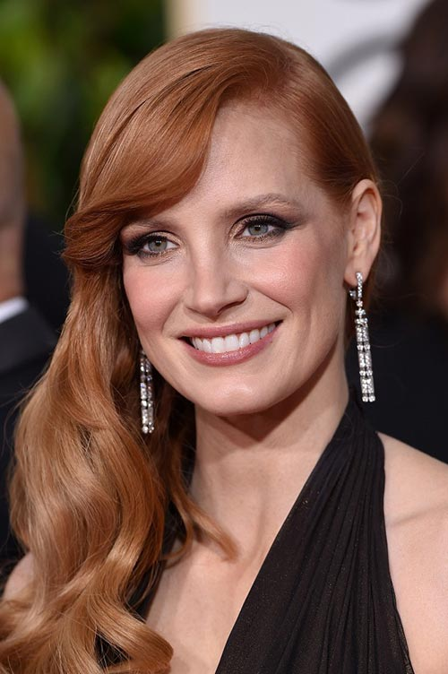 Trendy Hair Colors for Spring 2015: Jessica Chastain Red Hair
