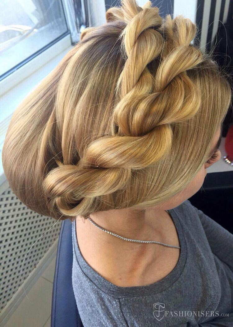 5 Pretty Braided Hairstyles for Summer: Twisted Braid Updo