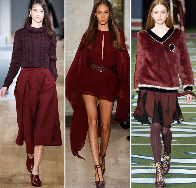 Fall/ Winter 2015-2016 Color Trends: Marsala Wine Red