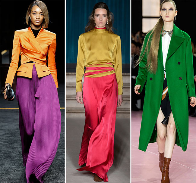 Fall/ Winter 2015-2016 Color Trends: Bold and Bright Colors