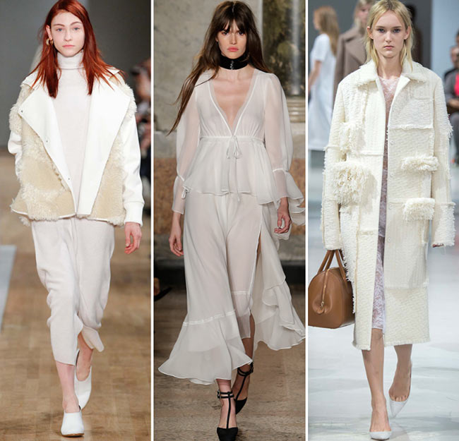 Fall/ Winter 2015-2016 Color Trends: White and Creams