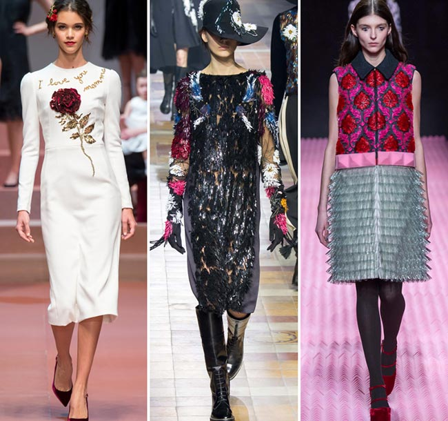 Fall/ Winter 2015-2016 Fashion Trends: 3D Embellishments