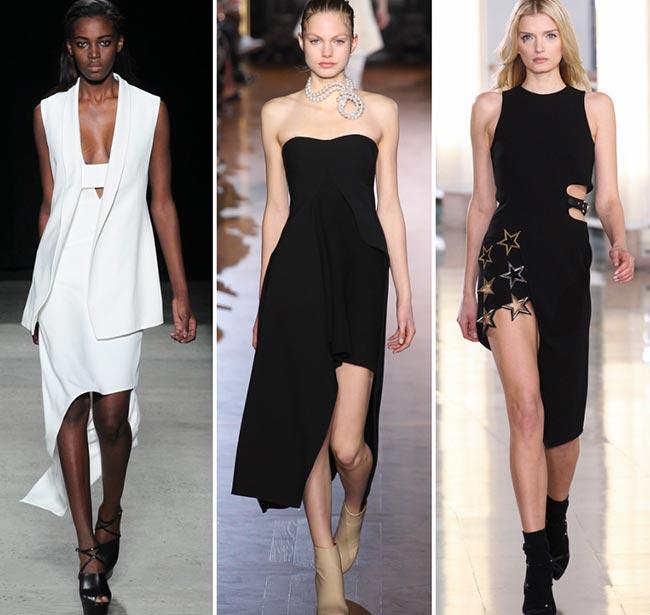 Fall/ Winter 2015-2016 Fashion Trends: Asymmetrical Hemlines