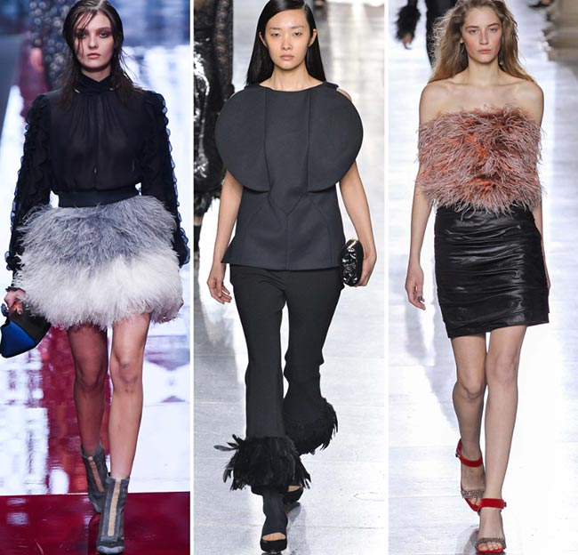 Fall/ Winter 2015-2016 Fashion Trends: Feathers